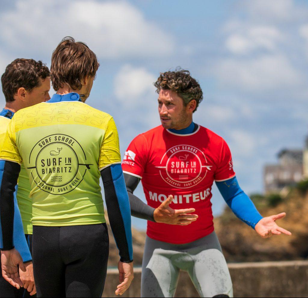 Ecole de surf Biarritz pédagogie