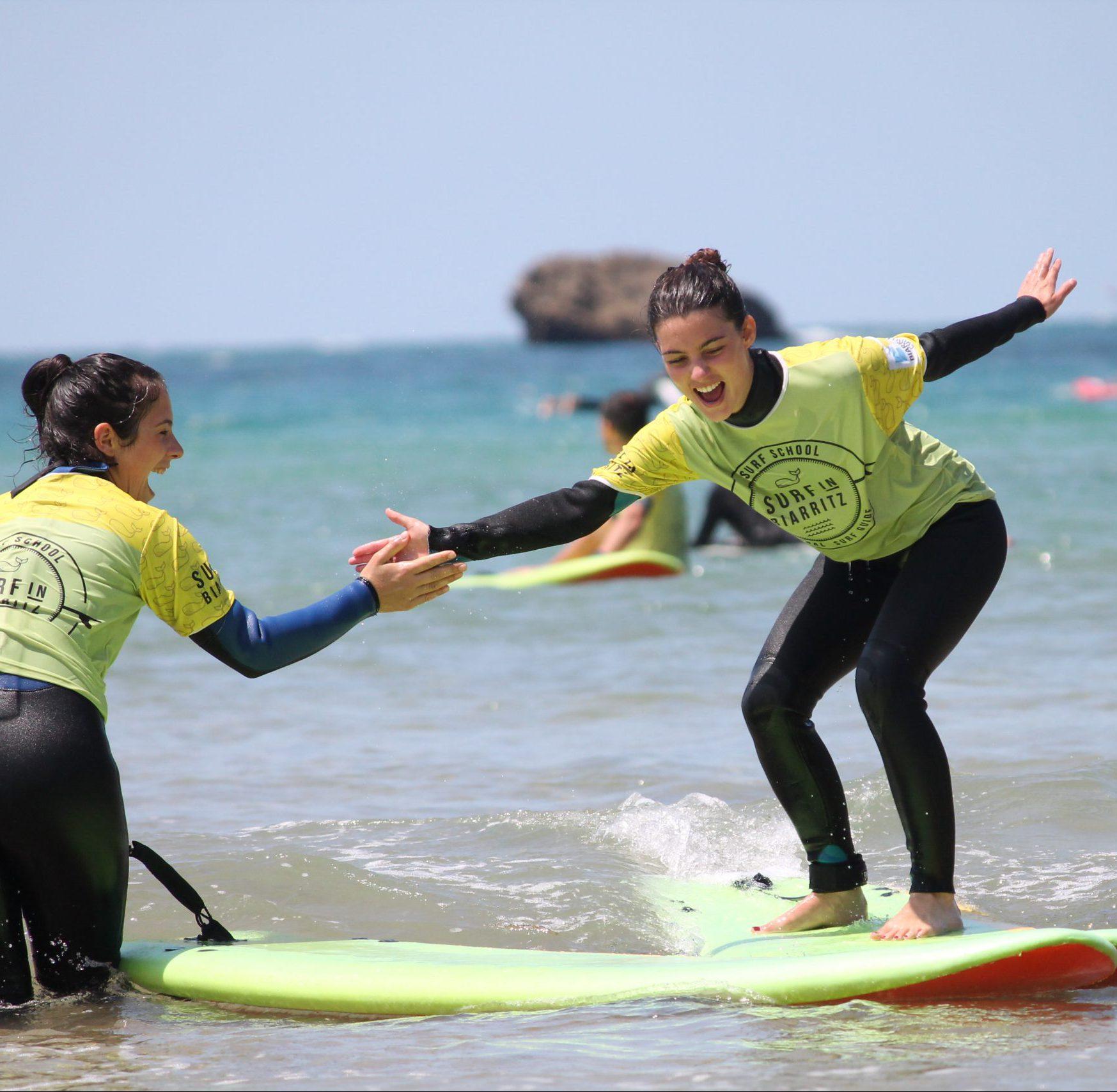 Cours de surf collectif Biarritz