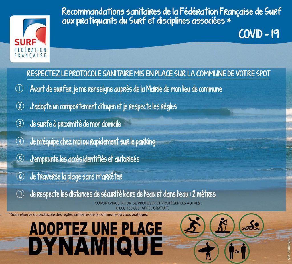 école de surf Biarritz | Règles COVID 19